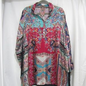 """Johnny Was S NWT Meco Tunic Floral Fall 38"""" Bust"""